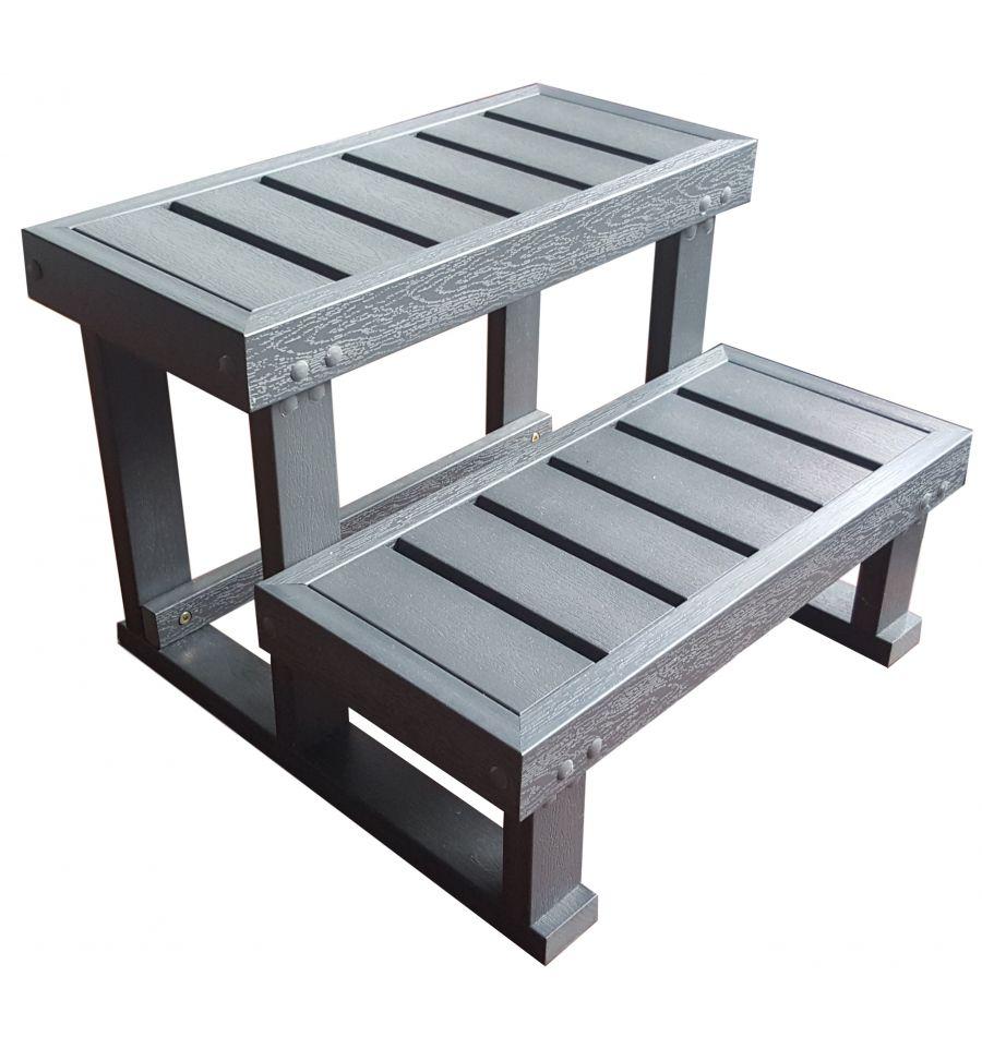 escalier spa 2 marches quipement escalier spa hot spa. Black Bedroom Furniture Sets. Home Design Ideas